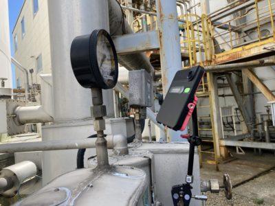 窒素配管 圧力監視